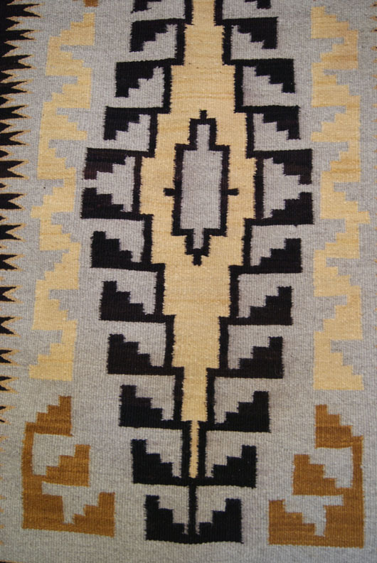 Two Grey Hills Navajo Weaving
