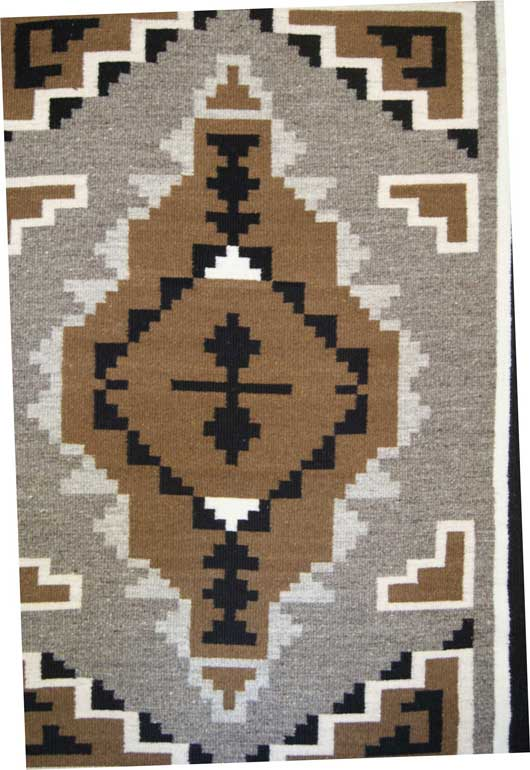 Two Grey Hills Tapestry Navajo Weaving