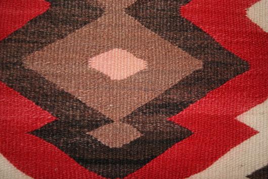 JB Moore Crystal Plate III Navajo Rug Weaving