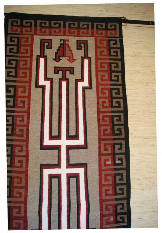 Contemporary Old Style Crystal Navajo Weaving Runner