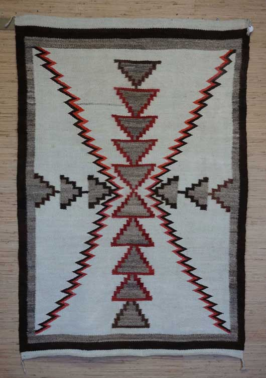 Regional Storm Pattern Navajo Rug Weaving for Sale