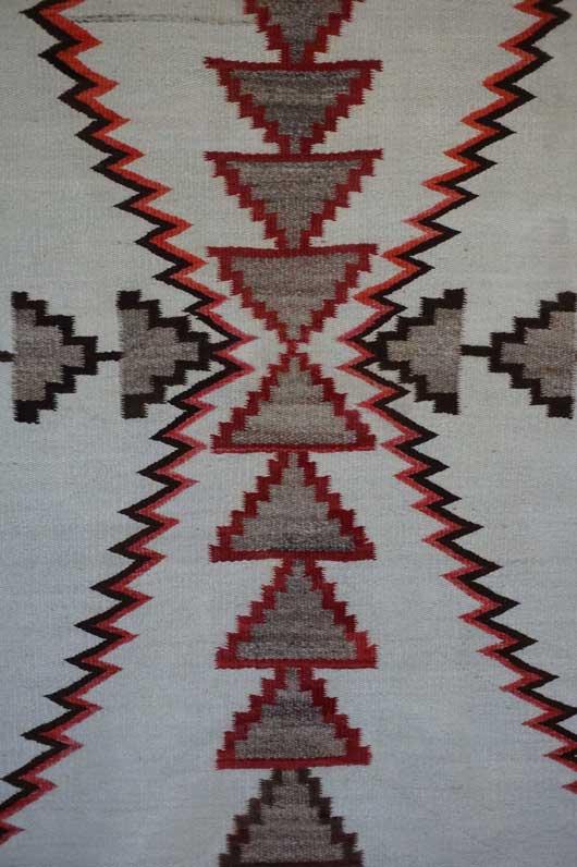 Regional Storm Pattern Navajo Rug Weaving for Sale