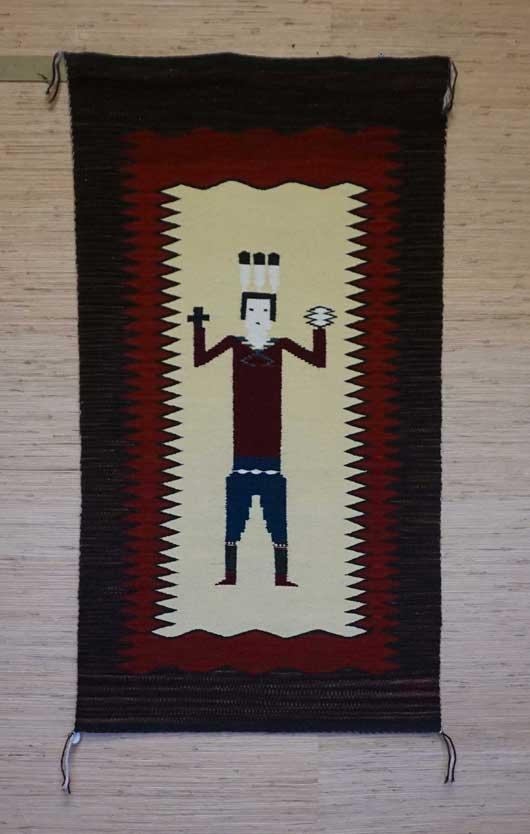 Single Yei Navajo Rug Weaving for Sale