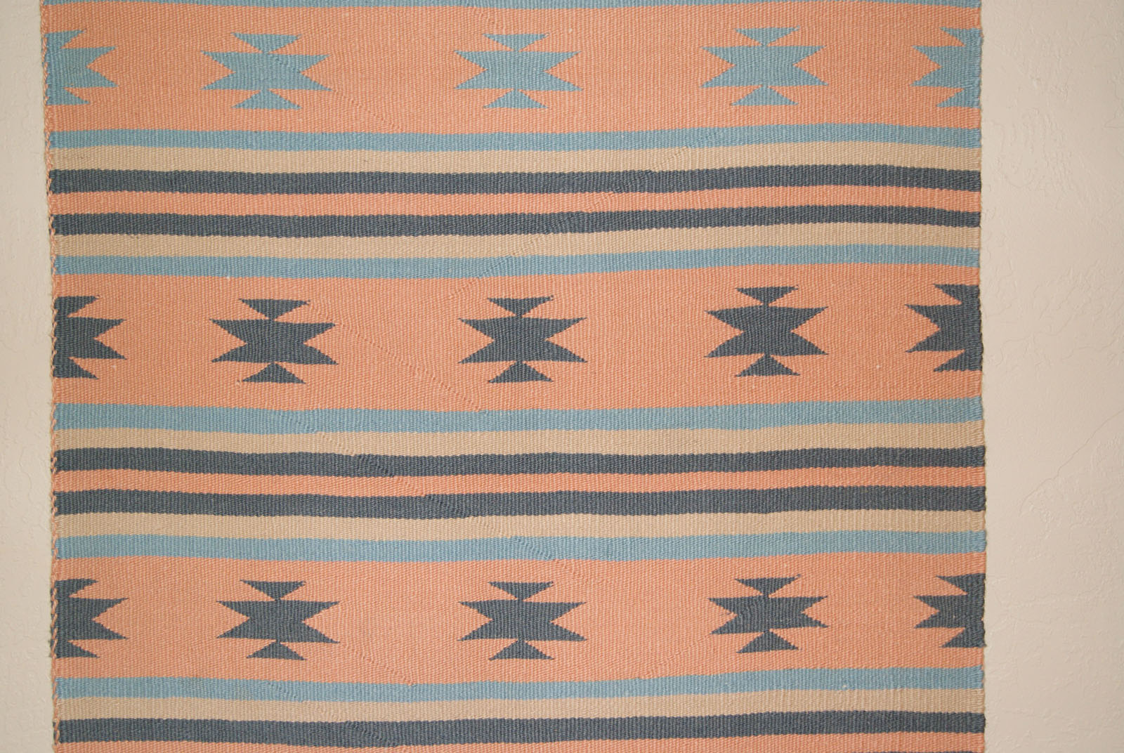 Chinle Banded Navajo Saddle Blanket With Chinle Stars