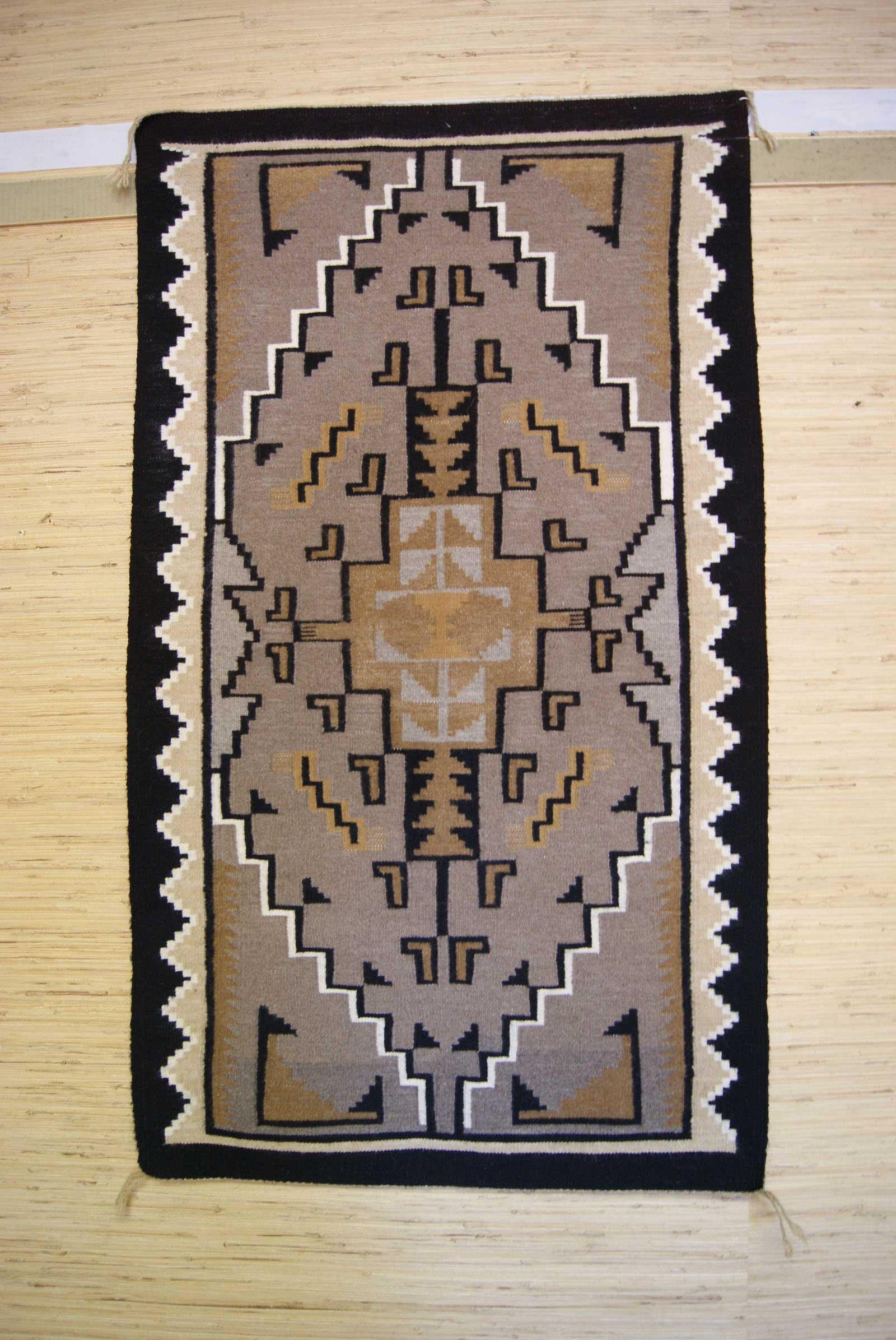 Two Grey Hills Navajo Weaving 384 Charley S Navajo Rugs