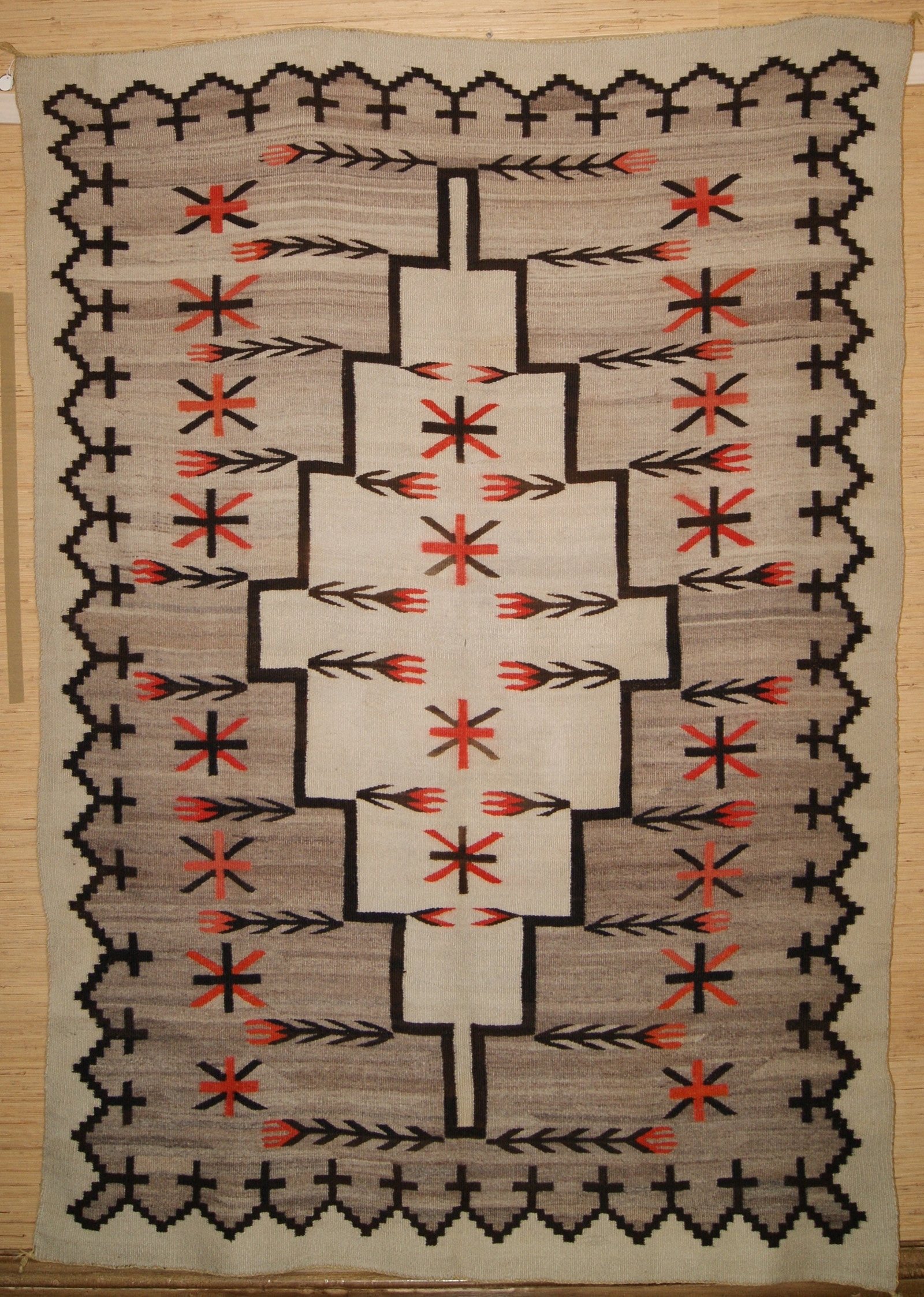 Crystal Navajo Pictorial Weaving With A Spiderwoman Hole
