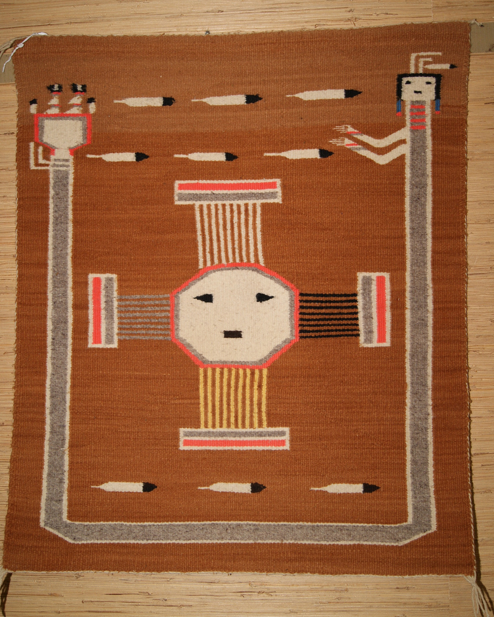 Navajo Sun Symbol Pictorial Weaving Weaving 409 Charleys Navajo