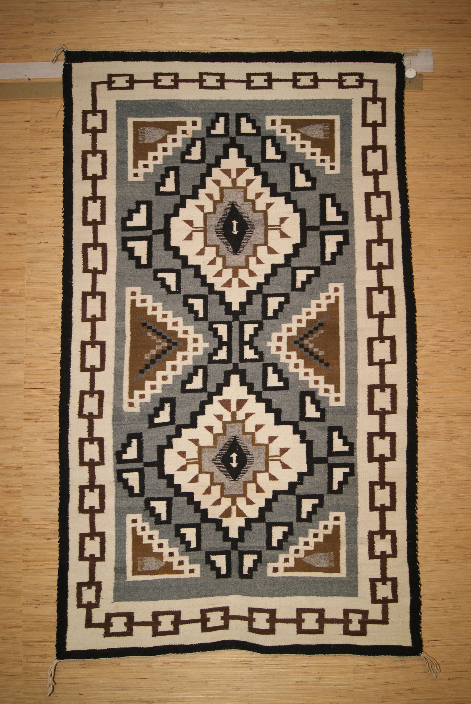 Circa 2000 Two Grey Hills Navajo Rug