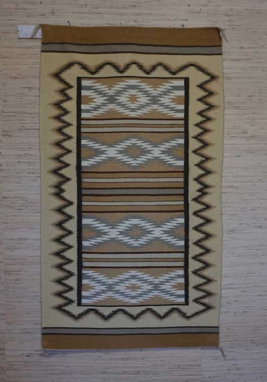Chinle Navajo Rug With Rug Within A Rug Layout 446
