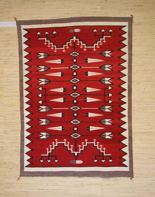 Red Mesa Pictorial Navajo Weaving