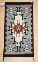 Old Style Crystal Navajo Rug Weaving by Gloria Hardy