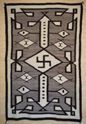 Navajo Rug with Whirling Logs