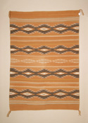 A Wide Ruins Navajo Weaving Banded with Chinle Stars