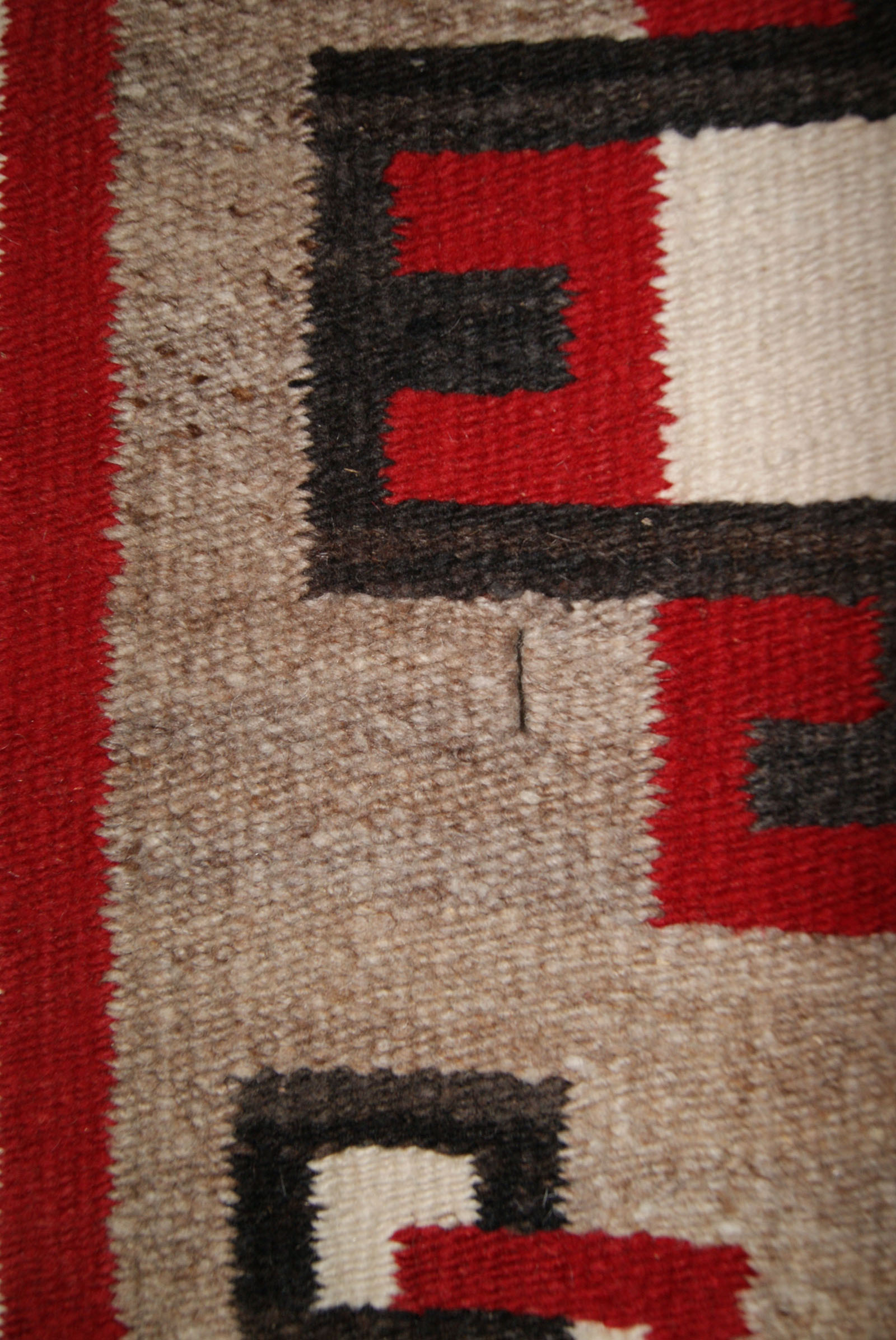 Ganado Double Navajo Saddle Blanket With A Spider Woman Hole