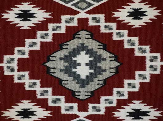Bisti Navajo Rug by Adele Mike 502