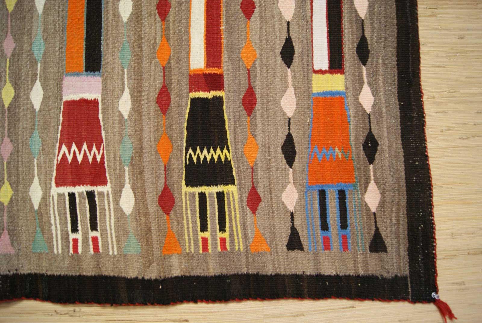 Six Female Yei Navajo Weaving From The Lukachukai Area