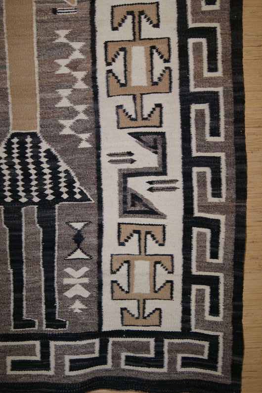 Single Yei Pictorial Navajo Rug