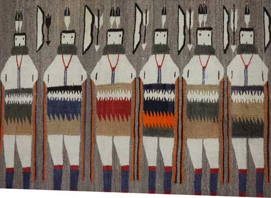 Seven Yeibichei Dancers with Bow & Arrows 531