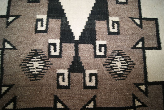 J. B. Moore Crystal Trading All Natural Colored Navajo Rug