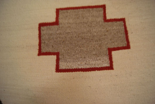Navajo Single Saddle Blanket with JY Brand in Two Corners from the Rockefeller JY Ranch in Wyoming
