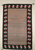 Navajo Open Field Double Saddle Blanket with Valero Stars Border