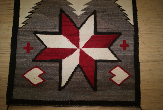 Navajo Ganado Double Saddle Blanket With Two Large Valero