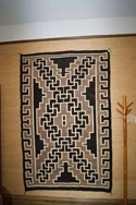 Two Grey Hills Storm Pattern Navajo Rug