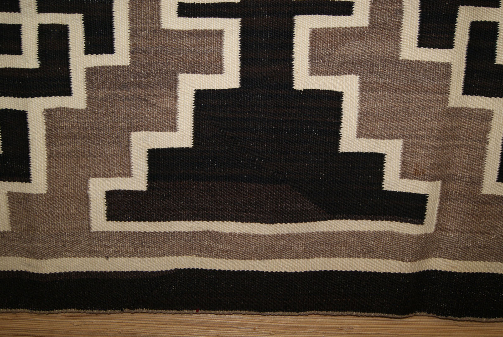 Two Grey Hills Storm Pattern Navajo Rug