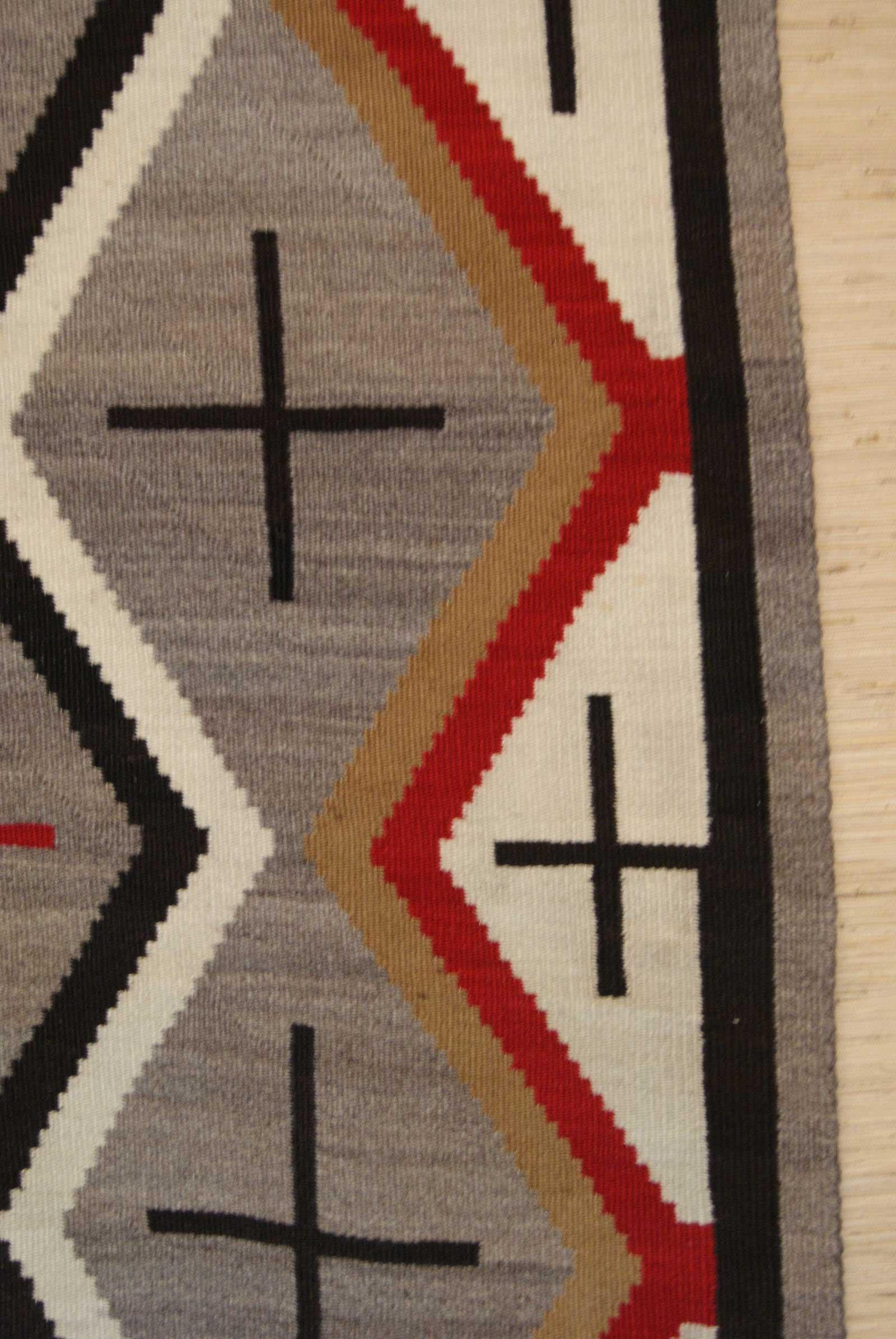 Navajo Weaving With Spider Women Crosses In Diamonds