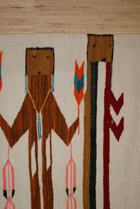 Rainbow Guardian Yei Navajo Weaving Rug