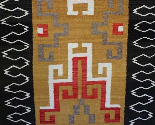 Crystal Storm Pattern Variant Navajo Rug Weaving for Sale