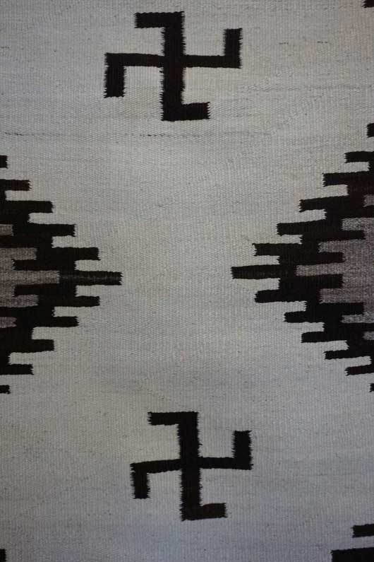 All Natural Double Diamond Navajo Weaving With Whirling Logs 584
