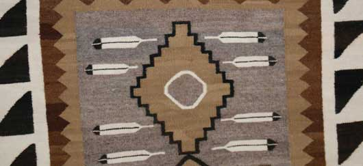 Two Grey Hills Pictorial Navajo Weaving