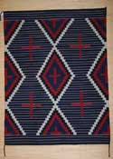 Moki Style Navajo Weaving with Spider Woman Crosses