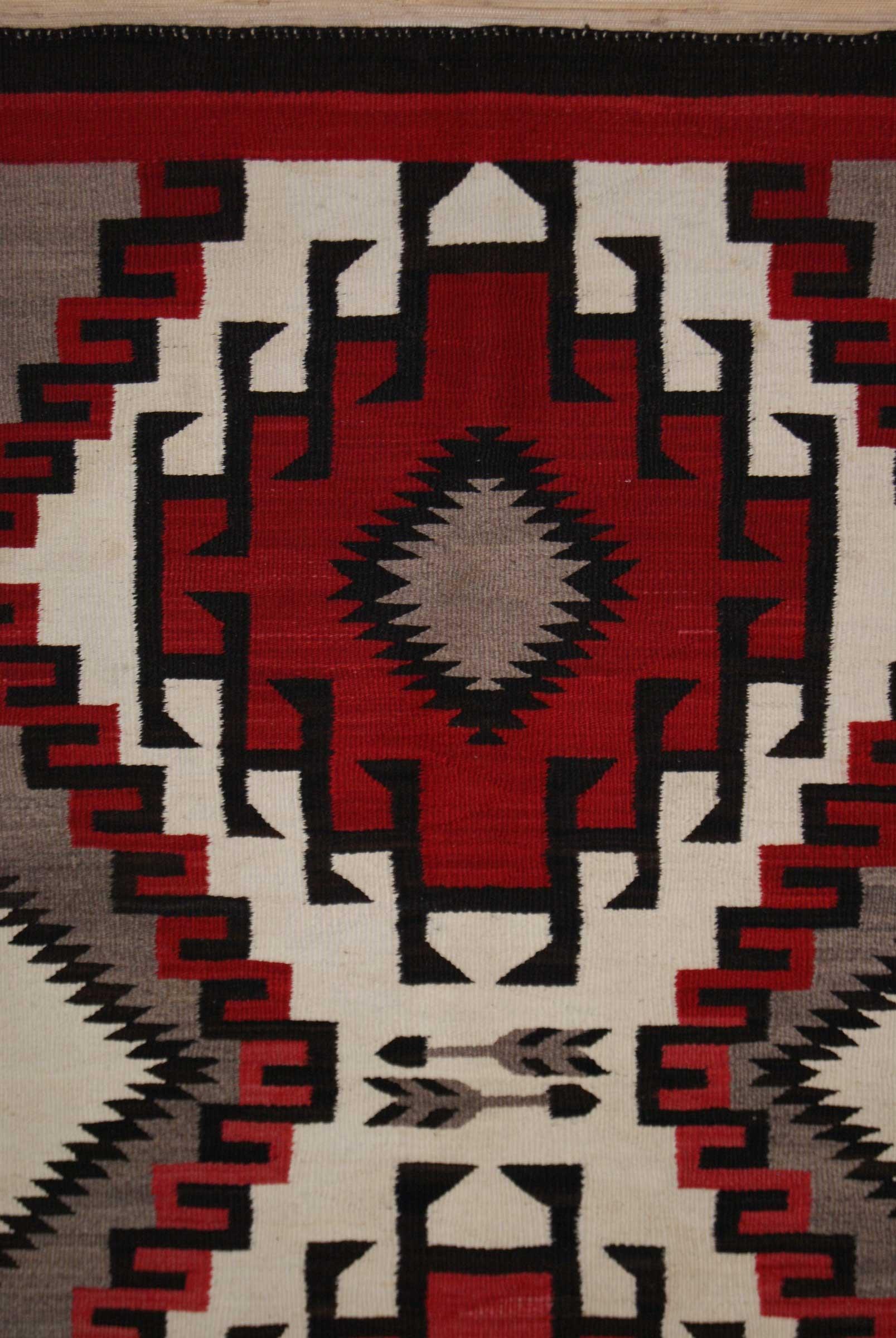 Ganado Pictorial Navajo Saddle Blanket With Arrows