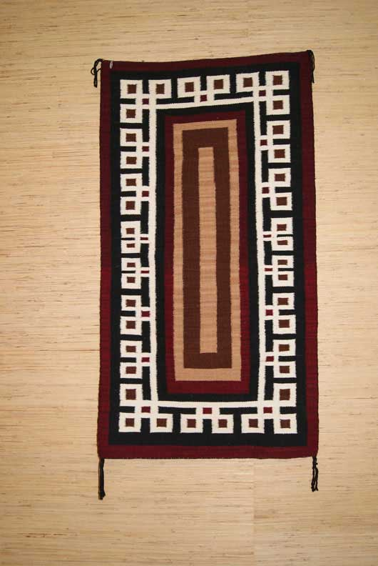 Contemporary Navajo Old Style Double Saddle Blanket