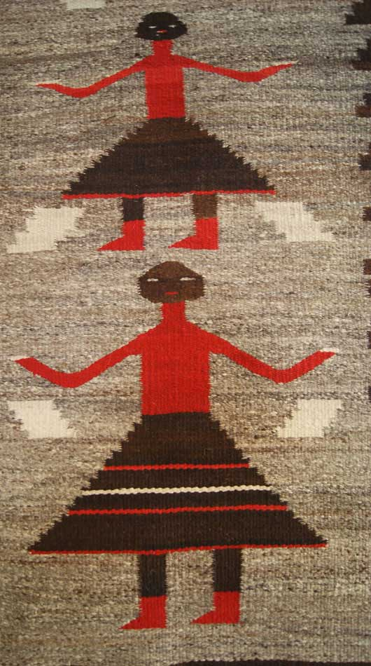 Pictorial Changing Woman Navajo Weaving