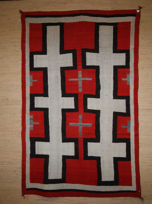 Hubbell Trading Post Transitional Navajo Rug