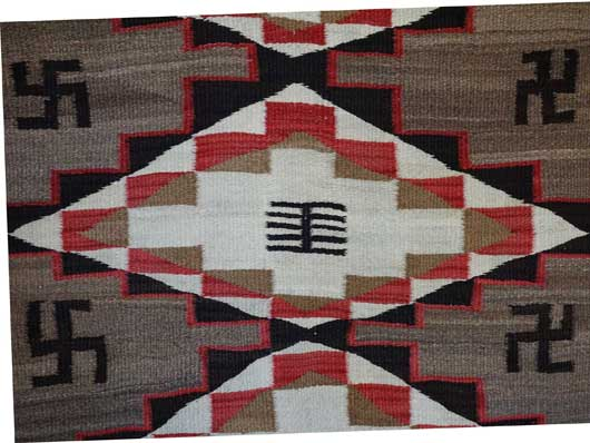 Ganado Navajo Rug with Whirling Logs