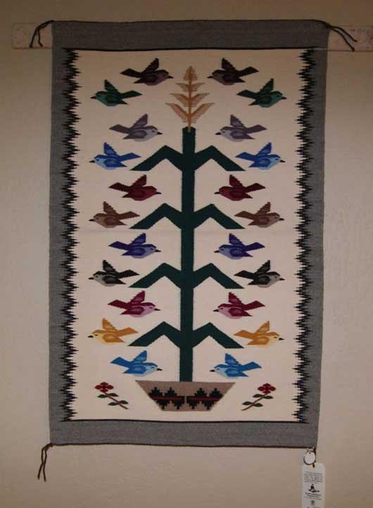 Featured Tree Of Life Navajo Weaving