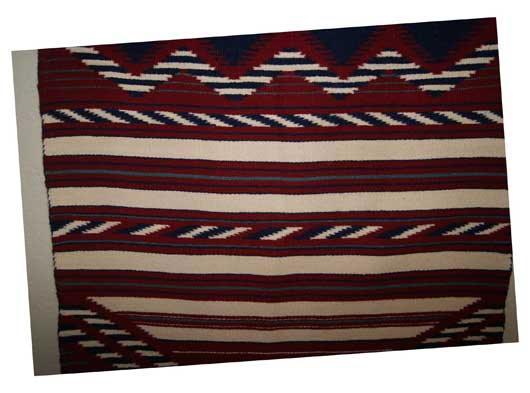 Contemporary Navajo Childs Blanket Weaving
