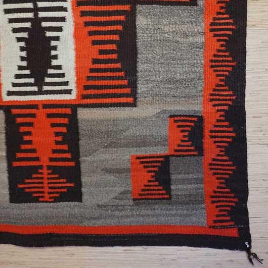 Ganado Navajo Rug Weaving for Sale