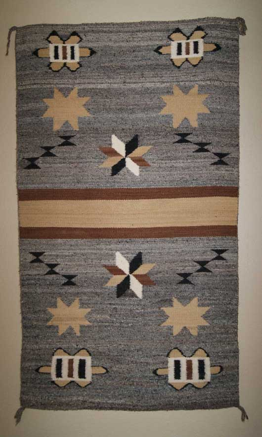 Navajo Double Saddle Blanket with Valero & Great Stars