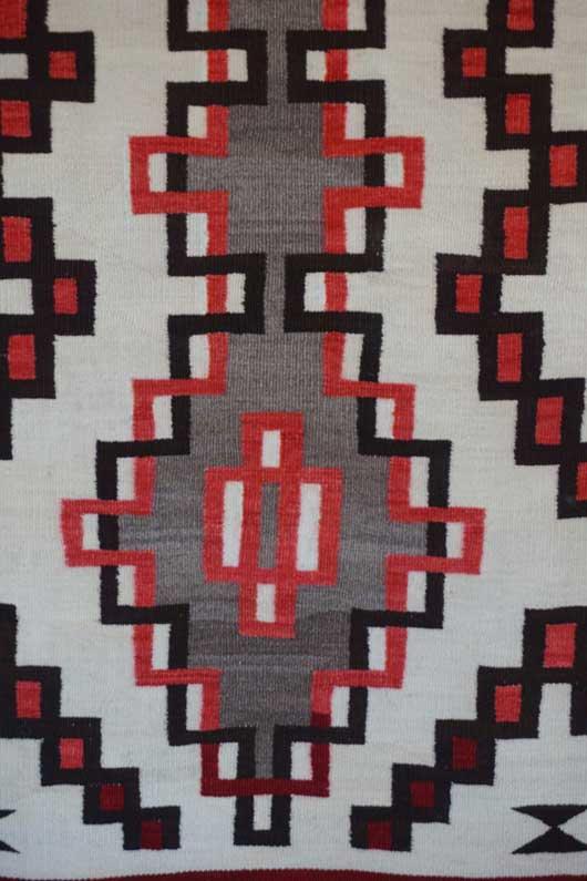 Klagetoh Double Diamond Navajo Rug