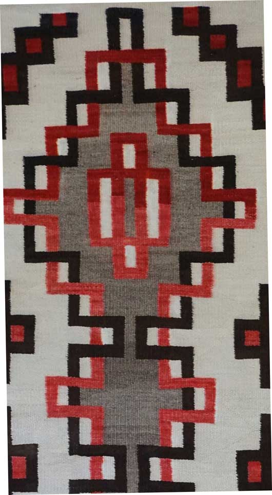 Klagetoh Double Diamond Navajo Rug 705