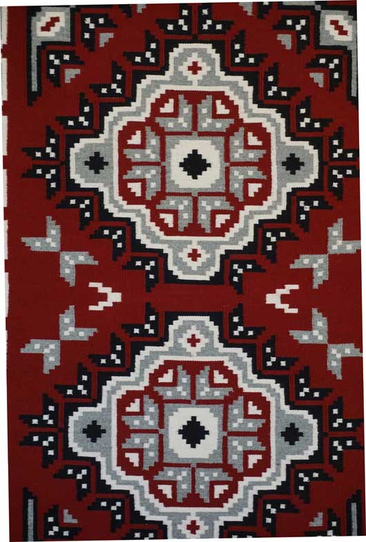 Ganado Navajo Weaving with Snowflakes 706