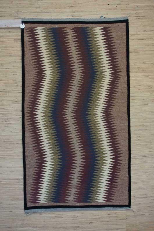 Eye Dazzler Navajo Weaving by Louise Tom 709