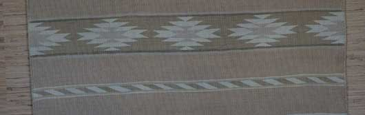 Banded Chinle Revival Navajo Blanket with bands of Chevrons and Chinle Stars