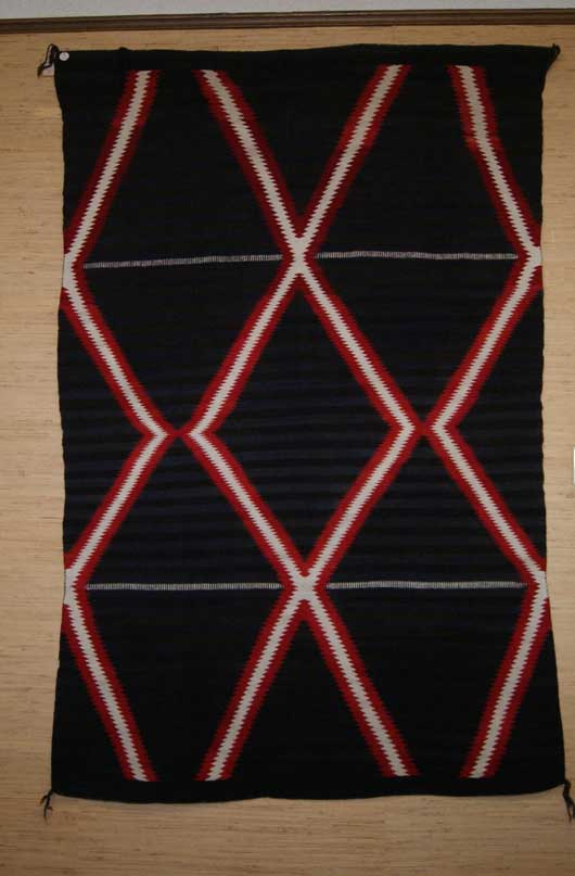 Navajo Double Saddle or Child's Blanket Moki Navajo Rug