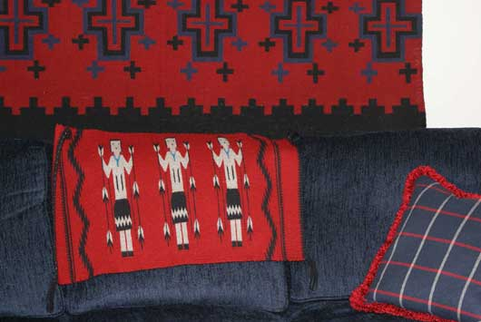 Yei Navajo Weaving by Gloria Hardy